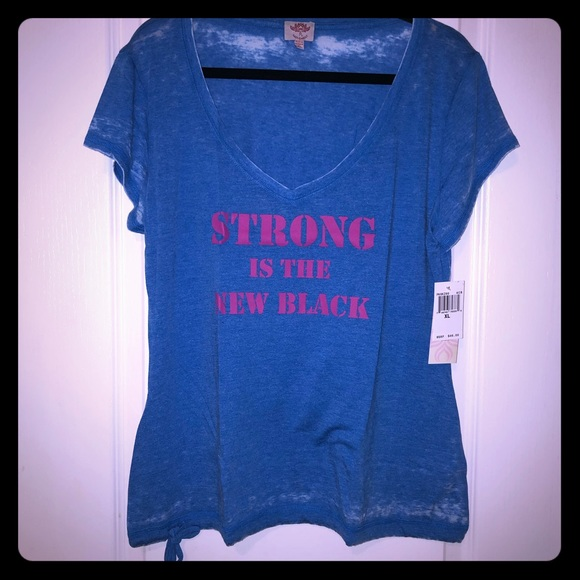 Pink Lotus Tops Yoga Strong Is The New Black Top Nwt Poshmark